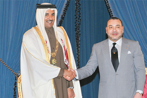 sm le roi et l emir du qatar