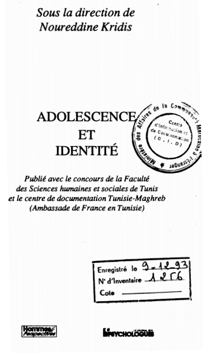 ADOLESCENCE ET IDENTITE