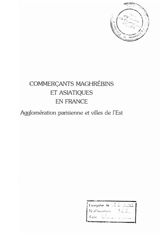 COMMERCANTS MAGHREBINS