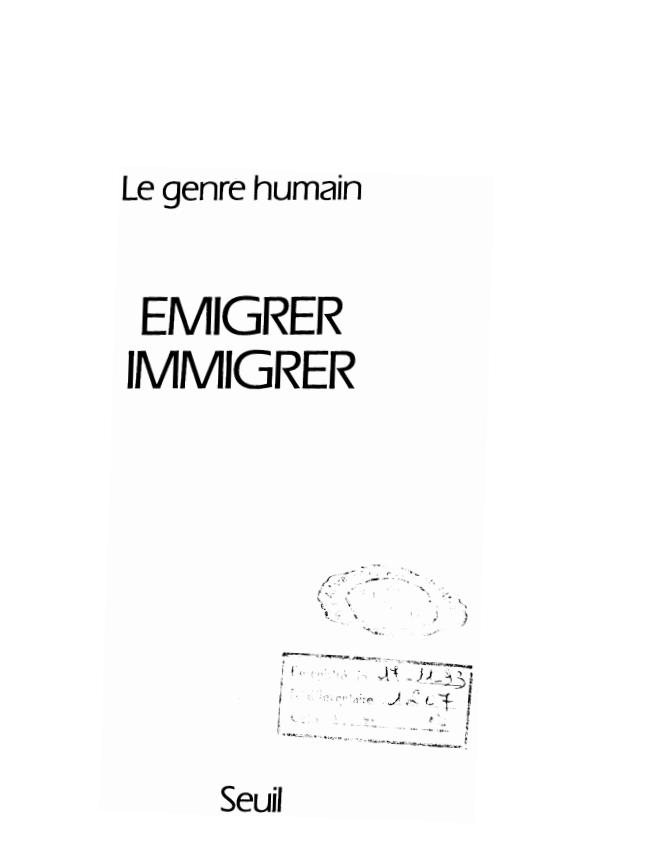 EMIGRER IMMIGRER