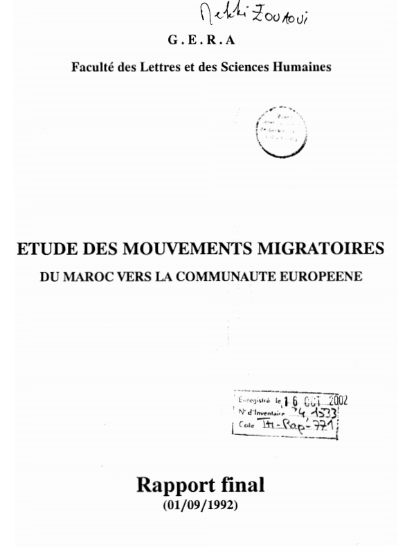 ETUDE DES MOUVEMENTS