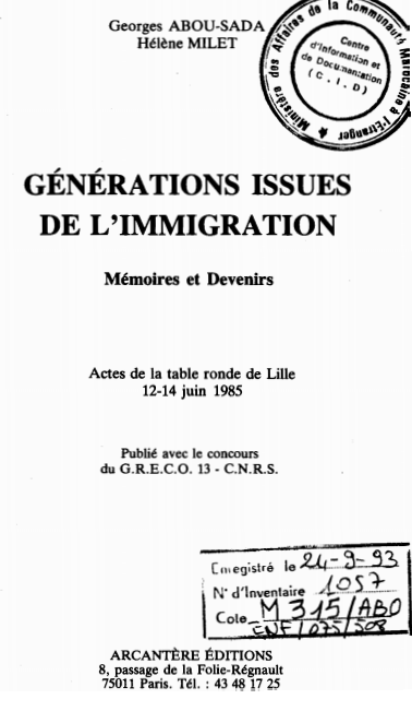 GENERATIONS ISSUES