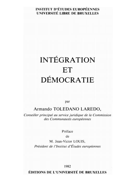 INTEGRATION ET DEMOCRATIE