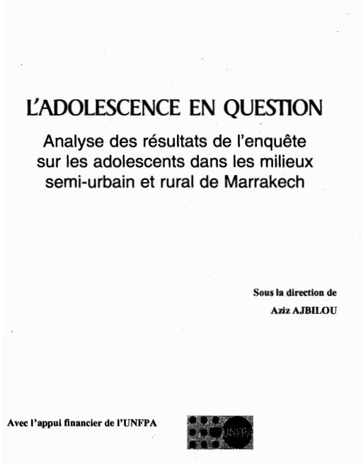 LADOLESCENCE EN QUESTION