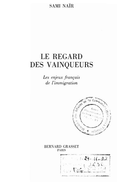 LE REGARD DES VAINQUEURS