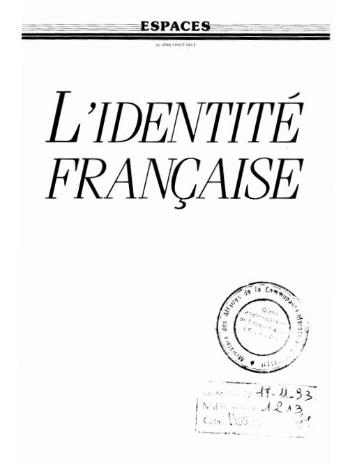 LIDENTITE FRANCAISE