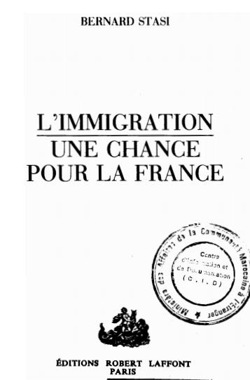 LIMMIGRATION UNE CHANCE POUR LA FRANCE