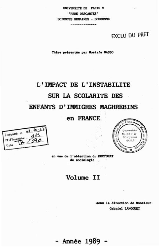 LIMPACT DE LINSTABILITE 1