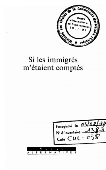 SI LES IMMIGRES METAIENT COMPTES