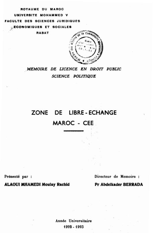 ZONE DE LIBRE ECHANGE