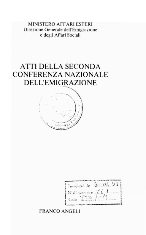ATTI DELLA II CONFERENZA NAZIONALE