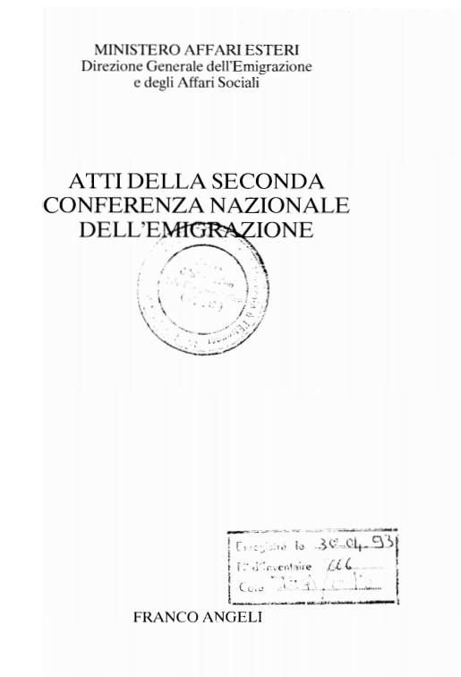ATTI DELLA II CONFERENZA