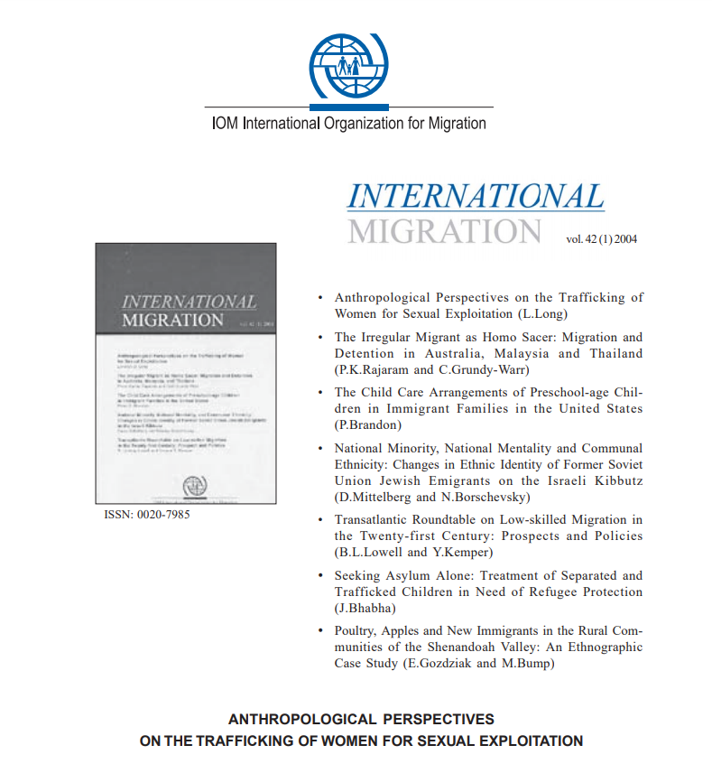 Anthropological Perspectives on the Trafficking of Women for Sexual