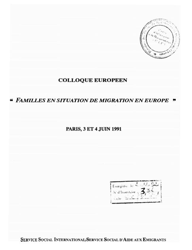 COLLOQUE EUROPEEN