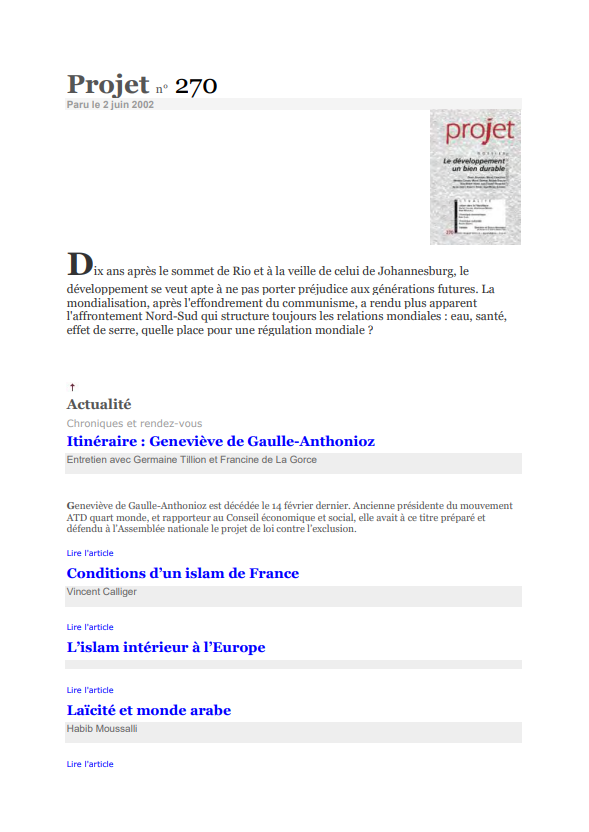 Conditions dun islam de France
