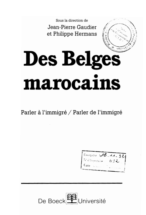 DES BELGES MAROCAINS
