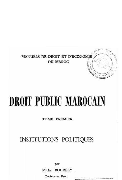 Droit public marocain 1