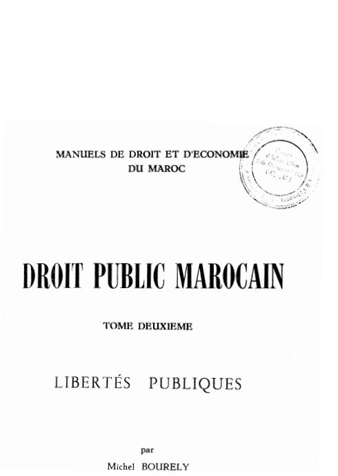 Droit public marocain