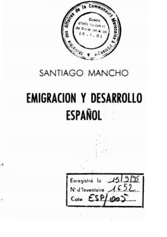 EMIGRACION Y DESARROLLO