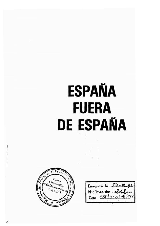 ESPANA FUEARA DE ESPANA OCTUBRE 1988