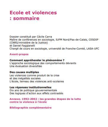 Ecole et violences
