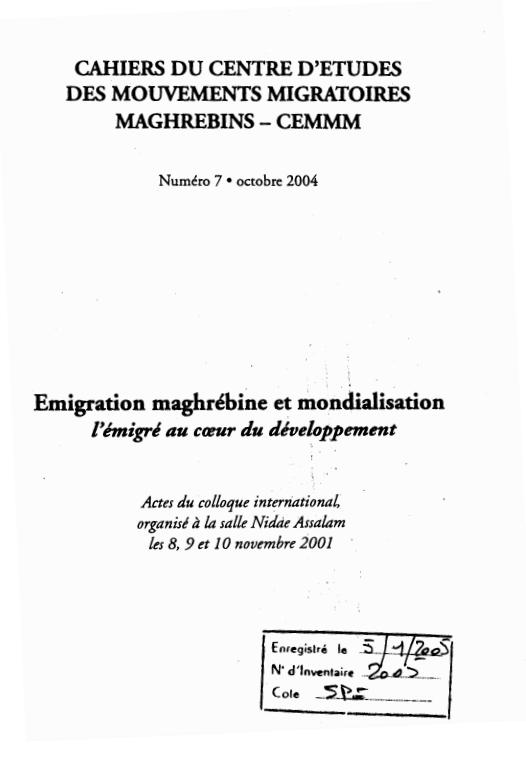 Emigration Maghrebine