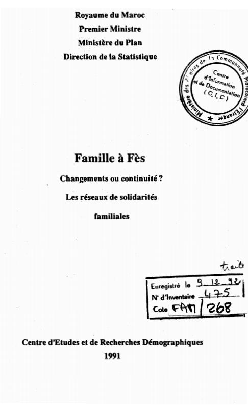 FAMILLE A FES