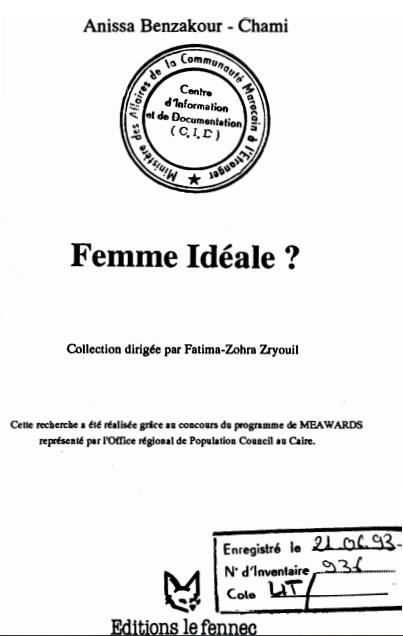 FEMME IDEALE.