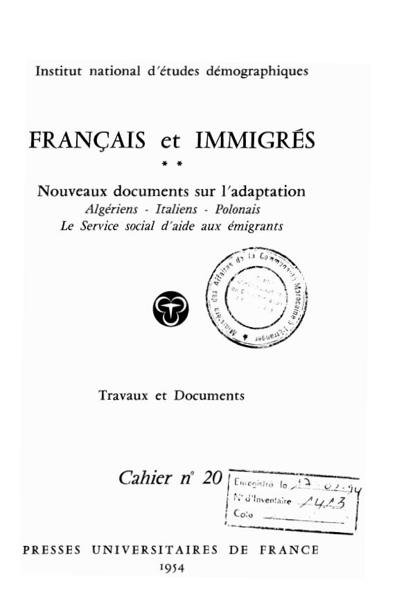 FRANCAIS ET IMMIGRES