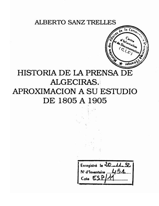 HISTORIA DE LA PRENSA DE ALGECIRAS
