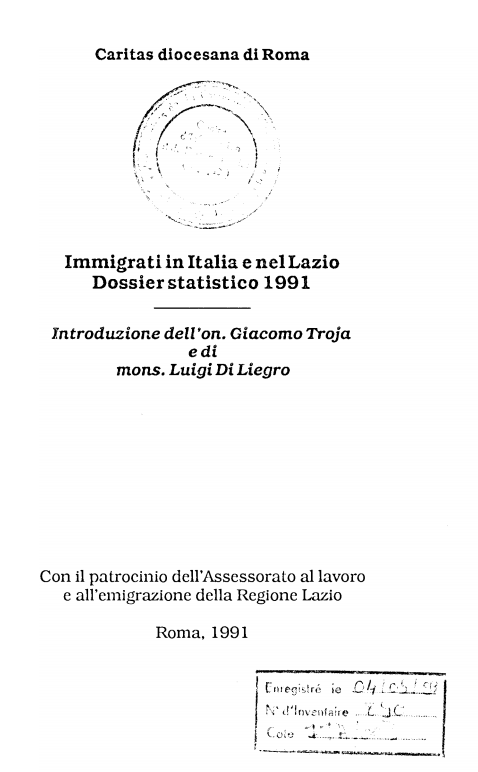 IMMIGRATI IN ITALIA E NEL LAZIO