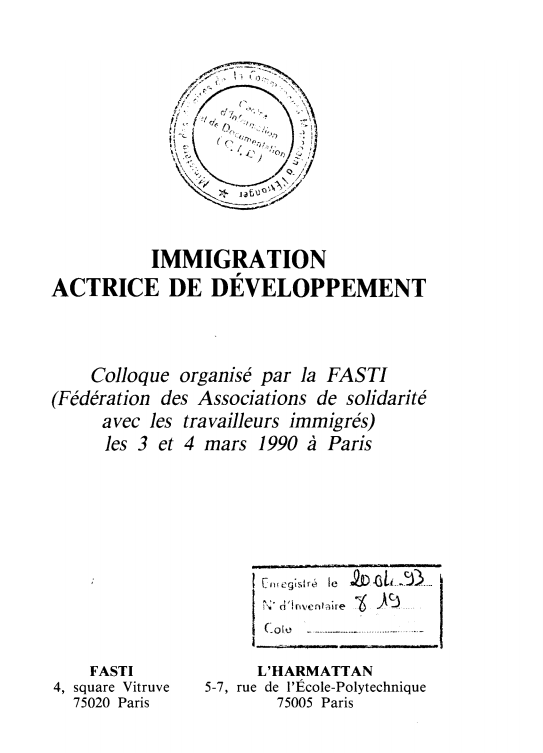 IMMIGRATION ACTRICE
