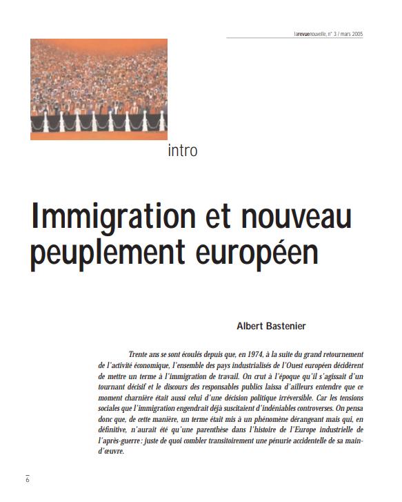 Immigration et nouveau