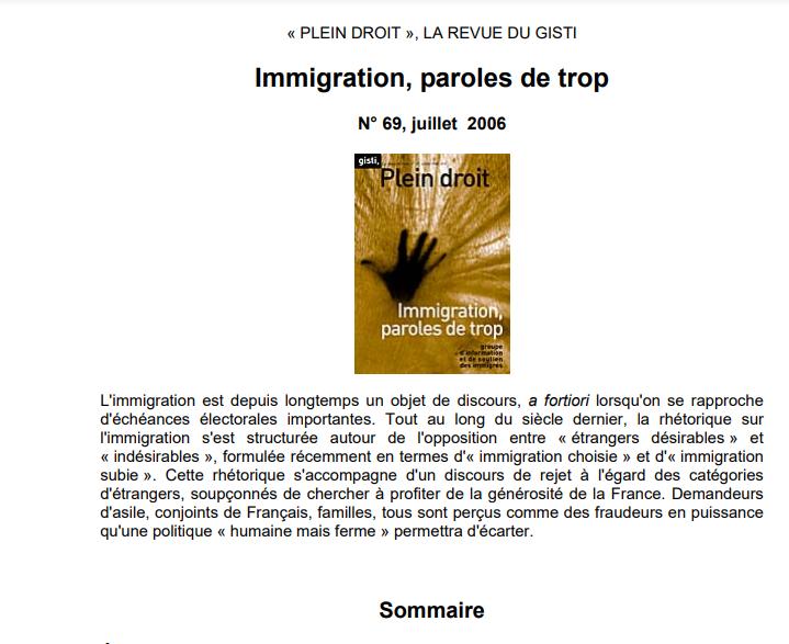 Immigration paroles de trop