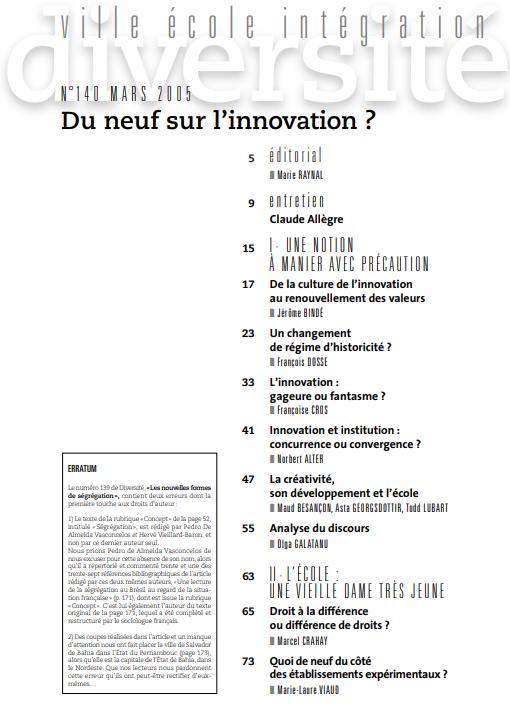 Innovation et institution