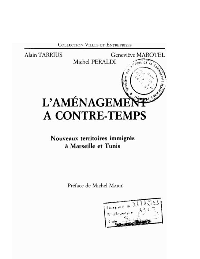 L'AMENAGEMENT A CONTRE TEMPS