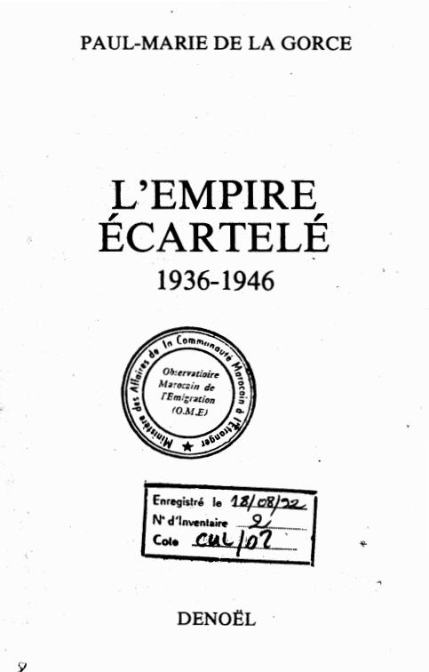 L'EMPIRE ECARTELE 1936 1946