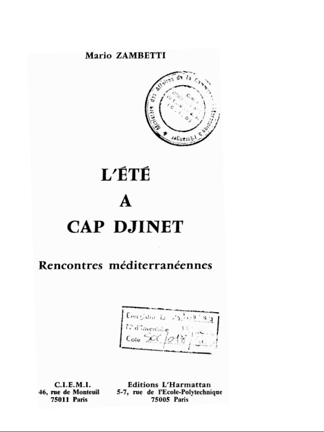 L'ETE A CAP DJINET