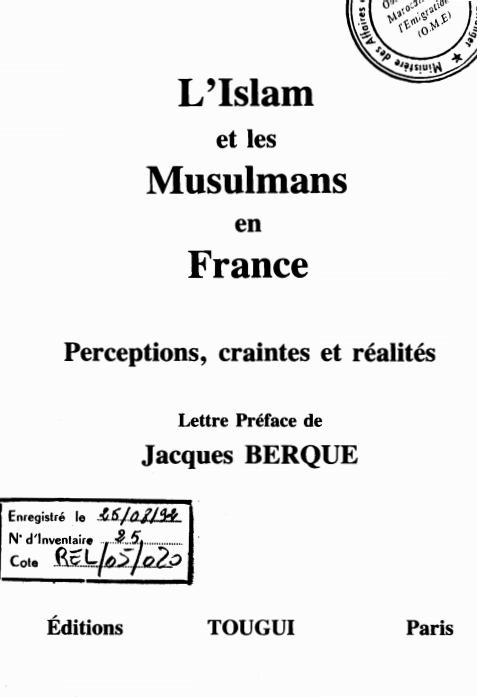 L'ISLAM ET LES MUSULMANS EN FRANCE