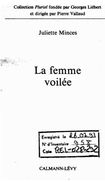 LA FEMME VOILEE