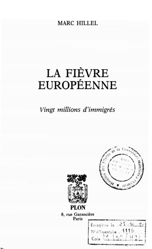 LA FIEVRE EUROPEENNE