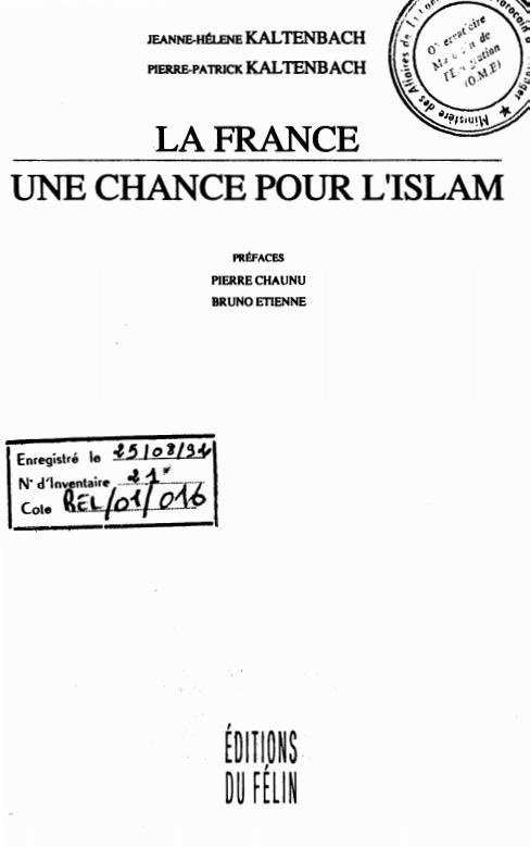 LA FRANCE UNE CHANCE POUR L'ISLAM