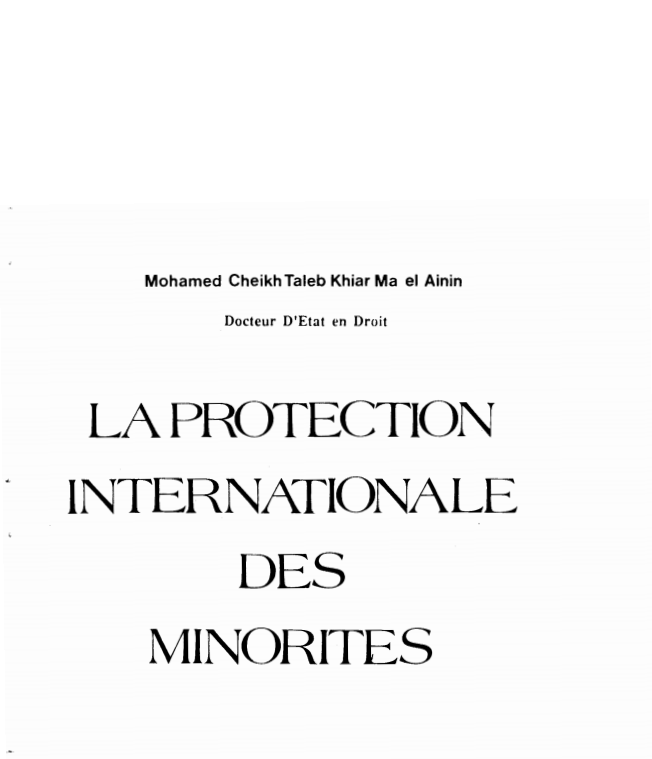 LA PROTECTION INTERNATIONALE