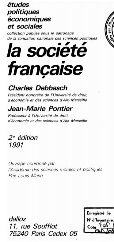 LA SOCIETE FRANCAISE