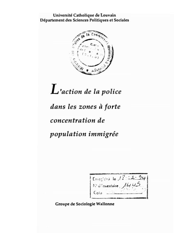 LACTION DE LA POLICE