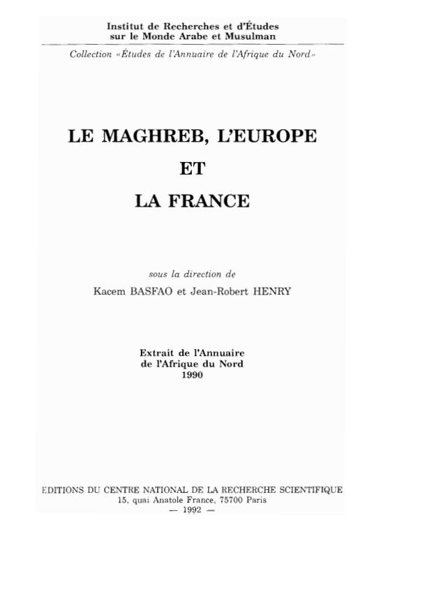 LE MAGHREB LEUROPE