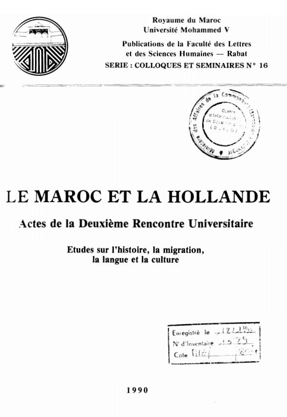 LE MAROC ET LA HOLLANDE