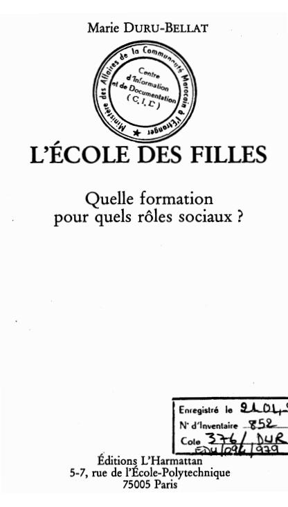 LECOLE DES FILLES