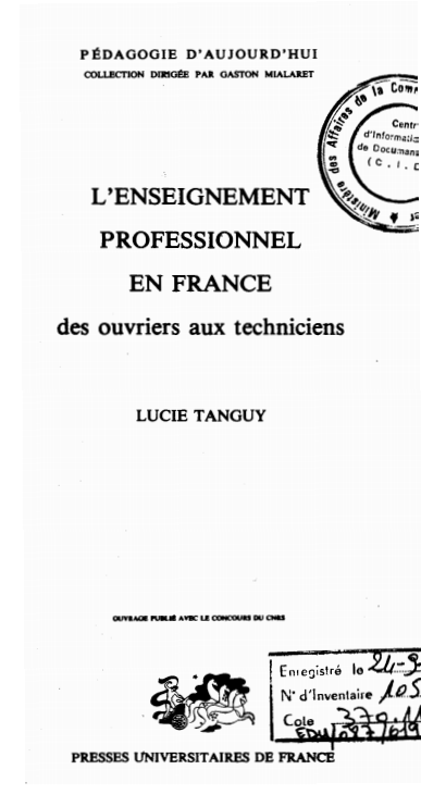 LENSEIGNEMENT PROFESSIONNEL