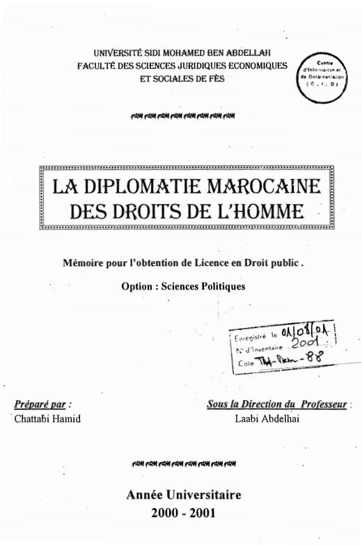 La diplomatie marocaine